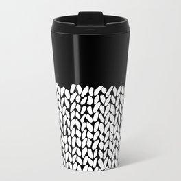 Half Knit  Black Metal Travel Mug