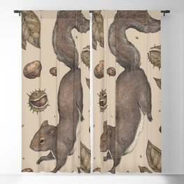 The Squirrel and Chestnuts Blackout Curtain