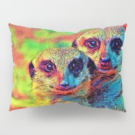AnimalColor_Meerkat_002_by_JAMColors Pillow Sham