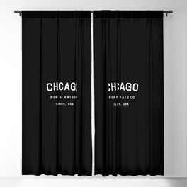 Chicago - IL, USA (Black Arc) Blackout Curtain