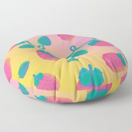 Strawberry Day Floor Pillow