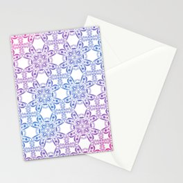 Gradient Snowflake Pattern Stationery Cards