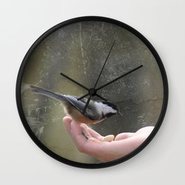 A Bird In The Hand Wall Clock