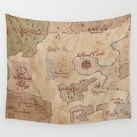 hyrule Wall Tapestries featuring Map of Hyrule- Legend of Zelda by Kaz Palladino & Awkward Affections