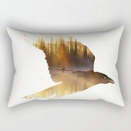 Crow Mystic River - II Rectangular Pillow