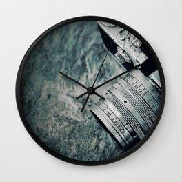 retro leica camera Wall Clock