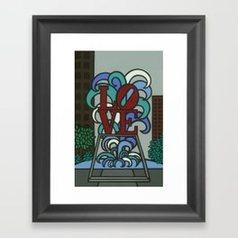 pop LOVE park Framed Art Print