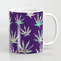 cannabis Mugs featuring Merry Cannabis by GypsYonic