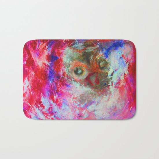 Abstract Owl Bath Mat