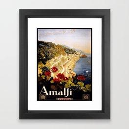 Vintage poster - Amalfi Framed Art Print