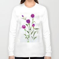 freud Long Sleeve T-shirts featuring You Know What Freud Said About Carnations by Kate Havekost Fine Art