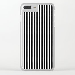 Home Decor Striped Black and White Clear iPhone Case