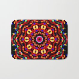 Kaleidoscope Christmas Bokeh Light Trails Bath Mat