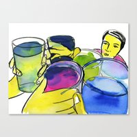 alcohol Canvas Prints featuring alcohol by Elcee