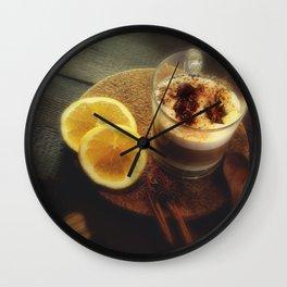 Fresh spices and fragrant arabica Wall Clock