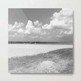 La plage – The Beach Metal Print