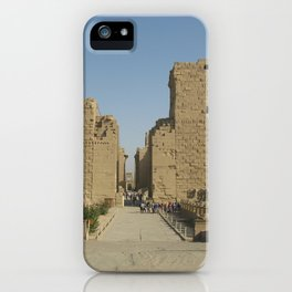Temple of Karnak at Egypt, no. 4 iPhone Case