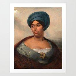 "Eugène Delacroix ""Women in a Blue Turban"" Art Print"