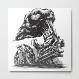 Tractor Pulling Metal Print
