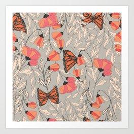 Monarch garden 001 Art Print