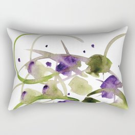 Atom Flowers #20 Rectangular Pillow