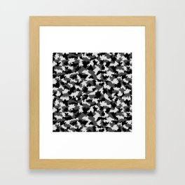 Camouflage Digital Black and White Framed Art Print