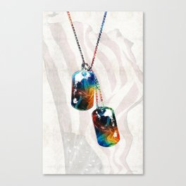 Military Art Dog Tags - Honor - By Sharon Cummings Canvas Print