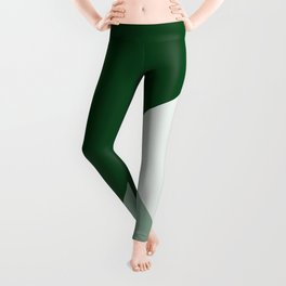 Trinity Color Block Forest Green 08441C Leggings