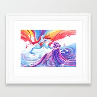 mlp Framed Art Prints featuring MLP by Cari Corene