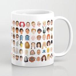 Movie Characters Heads Coffee Mug