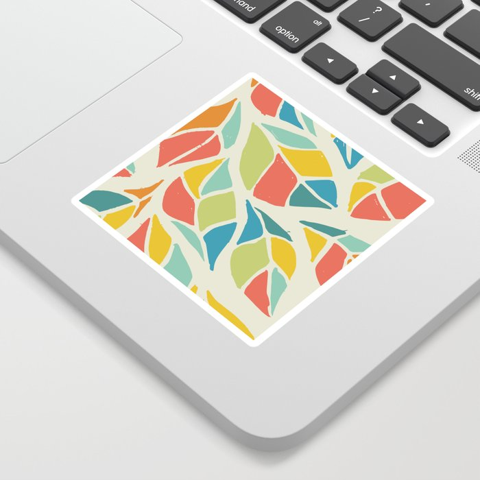 Colors of the wind fall leaves Sticker