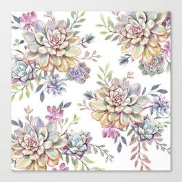 succulent watercolor 10 Canvas Print