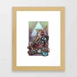 Soul of a Hero - Red Tunic Framed Art Print