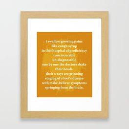 """sixteen"" By Sydney Kim Framed Art Print"