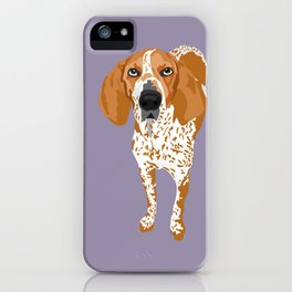 Gus redtick coonhound iPhone Case