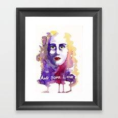 And some love Framed Art Print