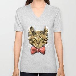 Bow Kitty Unisex V-Neck
