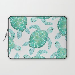 Sea Turtle Pattern - Blue Laptop Sleeve