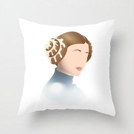 Cinnamon Bun Leia Throw Pillow