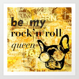 rock rock Art Print