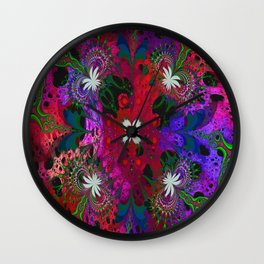 Hodge Podge Psychedelic Wall Clock