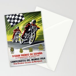 Vintage V Gran Premio De Espana Stationery Cards