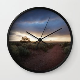 New Mexico Sunset Wall Clock