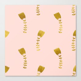 Pink Gold Foil 03 Canvas Print