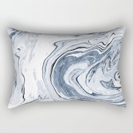 Kiyomi - spilled ink japanese monoprint marble paper marbling art print cell phone case with marble Rectangular Pillow