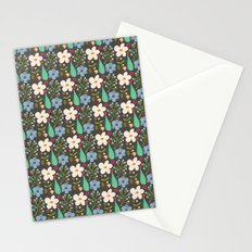 Fun Floral Pattern Stationery Cards