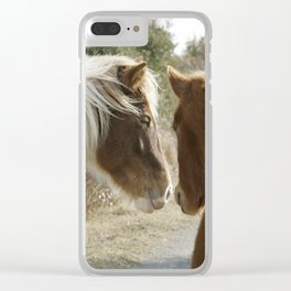 Horse Conversations Clear iPhone Case