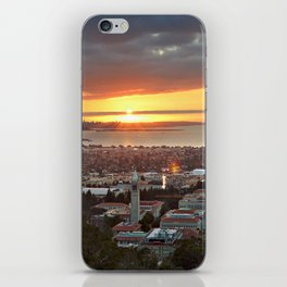 View of San Francisco Bay Area at Sunset from UC Berkeley iPhone Skin