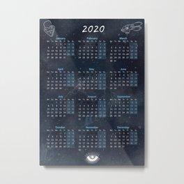 Calendar 2020 with Moon #10 Metal Print