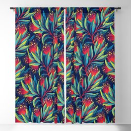Pohutukawa - Red / Green Blackout Curtain